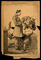 A German military dentist pulls a tooth from an agonised sol Wellcome V0011921.jpg