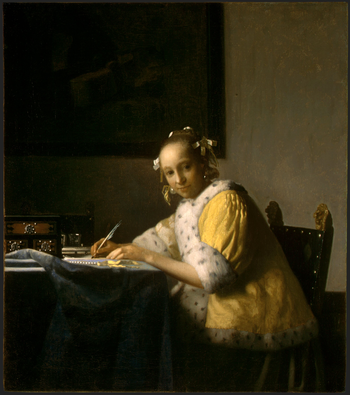 Johannes Vermeer, A Lady Writing a Letter, 1665