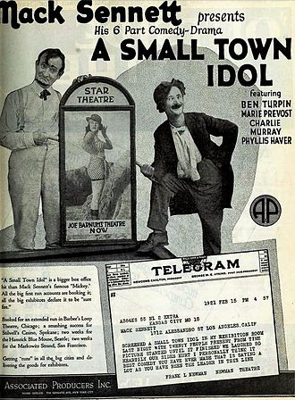 Charles Murray (American actor) - Ad for A Small Town Idol (1921) with Murray at left