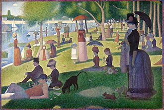 Asnières-sur-Seine - A Sunday Afternoon on the Island of La Grande Jatte,  1884 by Georges-Pierre Seurat Art Institute of Chicago