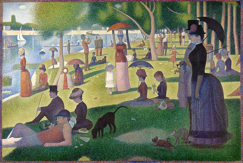800px A Sunday on La Grande Jatte%2C Georges Seurat%2C 1884 %Category Photo