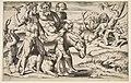 A drunken Silenus riding an ass being supported by satyrs MET DP812468.jpg
