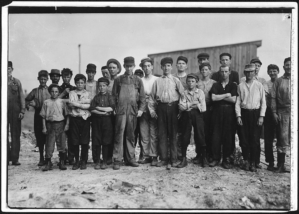 A few of the young boys working on the night shift at the glass factory. Alexandria, Va. - NARA - 523440
