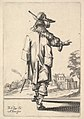 A gentleman, seen from behind, with his right arm outstretched and a cloak over his left shoulder MET DP829196.jpg