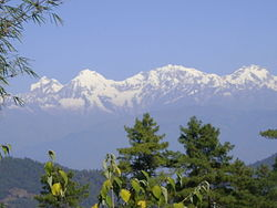 A view of mountains from Daman Nepal..JPG