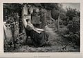 A young woman convalescing in a country garden watches a bir Wellcome V0015157.jpg