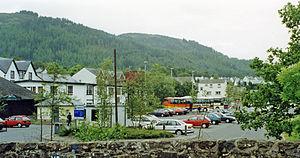 Aberfoyle railway station - Location of the former station (1997)