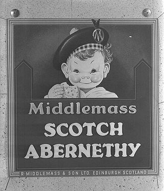 Abernethy biscuit - Middlemass, Scottish Abernethy plaque.