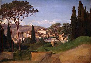 Jean-Achille Benouville - Image: Achille benouville, veduta di una villa romana, 1844