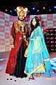 Actors in costume of Indian King and queen.jpg