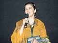 Actress Manisha Koirala addressing at the presentation of the film, (Elektra Light… After Dark), in the INOX Cinema Hall, during IFFI-2010, at Panaji, Goa on November 24, 2010.jpg