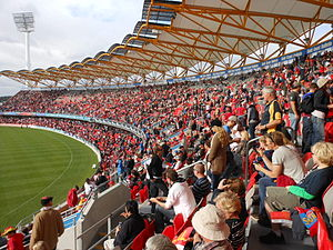 2013 Foxtel Cup - Image: Adelaide v Gold Coast Carrara crowd