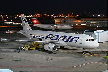 Adria Airways Airbus A320-231 at FRA