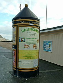 Advertising pillar, Marine Parade - geograph.org.uk - 1378817.jpg