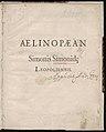 Aelinopaean Simonis Simonidae Leopoliensis. 1589 (68863438).jpg