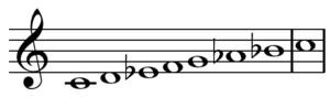 Heptatonic scale - Image: Aeolian mode C