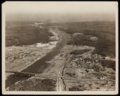 Aerial view of Bourne village and highway bridge, 1925.png