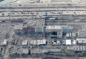 Starbucks Center - Aerial view of Starbucks Center from front