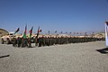 Afghan National Army soldiers with 1st Special Operations Brigade stand in formation Aug. 20, 2013, during the brigade's opening ceremony at Forward Operating Base Thunder in Paktia province, Afghanistan 130820-A-NQ567-005.jpg