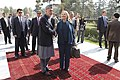Afghan President Hamid Karzai, center left, and U.S. Secretary of State Hillary Rodham Clinton, center right, meet at the Presidential Palace in Kabul, Afghanistan 111020-S-PA947-381.jpg