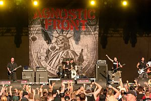 Heavy hardcore - New York hardcore band Agnostic Front paved the way for heavy hardcore.