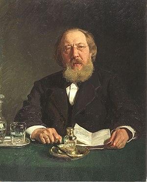 Ivan Aksakov - Portrait by Ilya Repin.