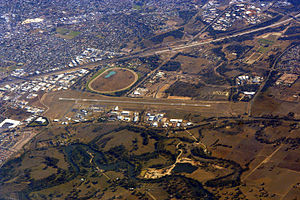 Albury Airport - Overview of the airport from the south-east