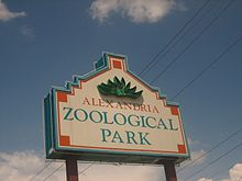 Alexandria, LA, Zoo sign IMG 1164.JPG