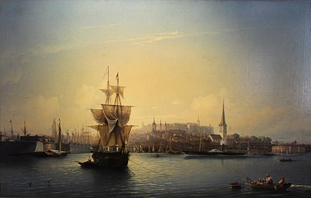 Port of Reval in 1853 Alexey Bogolybov - Port of Tallinn (1853).jpg