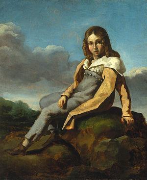 Alfred de Dreux - Portrait of Alfred de Dreux as a boy of about 10, by Théodore Géricault, ca. 1819-1820. Now at the Metropolitan Museum of Art