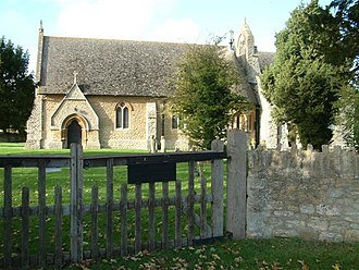 Nuneham Courtenay - 1874 'New' All Saints Church, designed in the Early English Gothic Revival style.