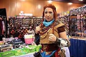 Cosplay d'Aloy dHorizon Zero Dawn.