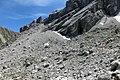 Alpen Wettersteingebirge Geröllfeld Knorrhütte.jpg