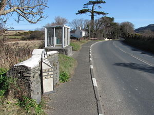 Alpine Cottage - The A3 Castletown to Ramsey road at Alpine Cottage, TT Marshals' Shelter and nearby Alpine House