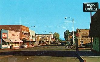 Alturas, California - Main Street in 1975