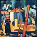 Amadeo de Souza-Cardoso, 1915 - Landscape with black figure.jpg