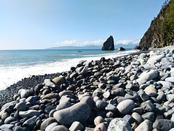 Ampere Beach and Ampere Rock in Dipaculao