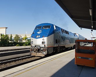 Van Nuys station - Image: Amtrak Pacific Surfliner Van Nuys July 2012