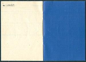 Amtsdokument Paul Fischer 1942-11-18 Hauptmann Deutsches Reich Luftfahrerschein für Segelflugzeugführer Seite 10 und 11 Ausweis Nr. 1498 Luftamt Hamburg.jpg