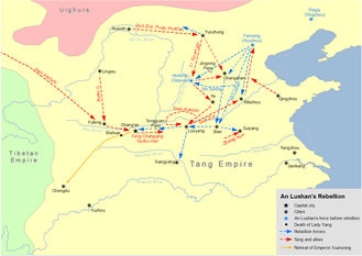 An Lushan Rebellion - Map of An Lushan Rebellion