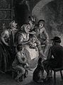 An old woman is telling some children a story which they app Wellcome V0038704.jpg