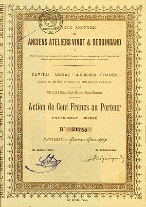 Vinot-Deguingand - Image: Anciens Ateliers Vinot & Deguingand 1919