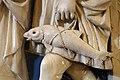 Andrea della robbia, dossale con stimmate di san francesco e san raffaele con tobiolo, 1475 ca., dalla cappella della confraternita di s. bartolomeo 07 pesce.jpg
