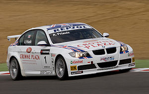 Racing Bart Mampaey - Andy Priaulx driving a BMW 320si for Racing Bart Mampaey at Brands Hatch in 2008.