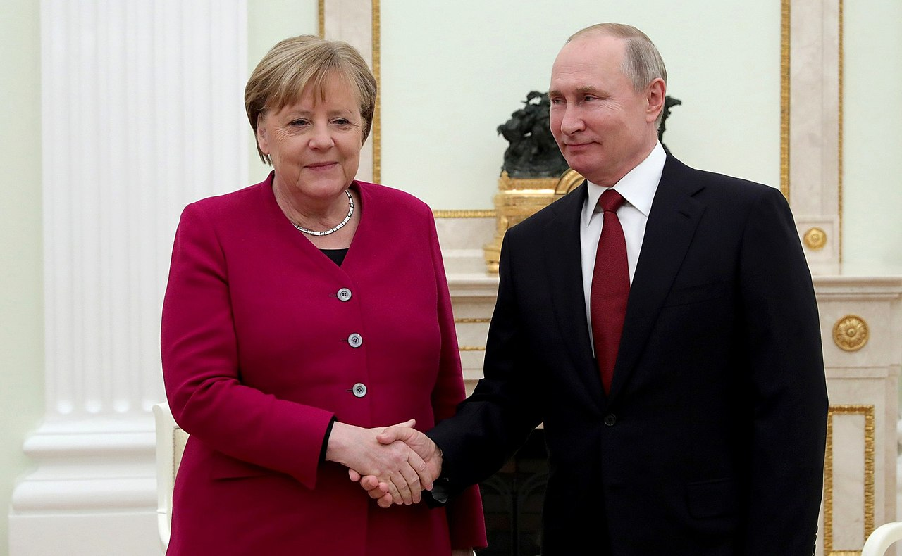 Angela Merkel and Vladimir Putin (2020-01-11) 02.jpg