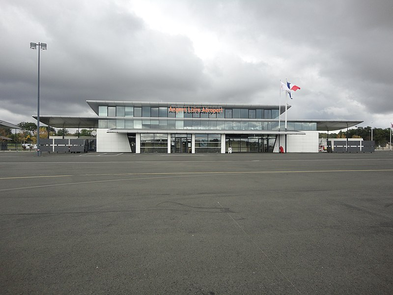Angers Airport air terminal seen from airside
