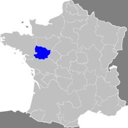 Location of Anjou