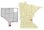 Anoka Cnty Minnesota Incorporated and Unincorporated areas ColumbiaHeights Highlighted copy.png