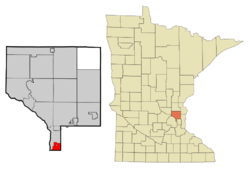 Location of the city of Columbia Heights within Anoka County, Minnesota