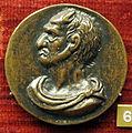 Anonimo, medaglia satirica con testa composta da membri virili, recto con busto di satiro.JPG